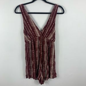 Red wild fable romper
